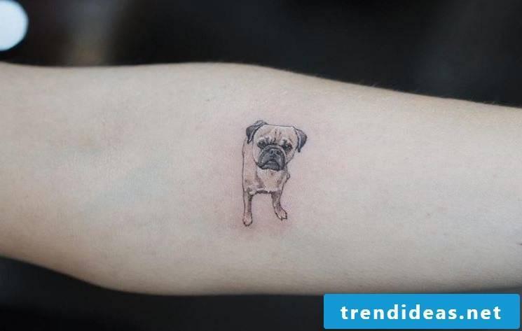 Ephemeral tattoo motifs