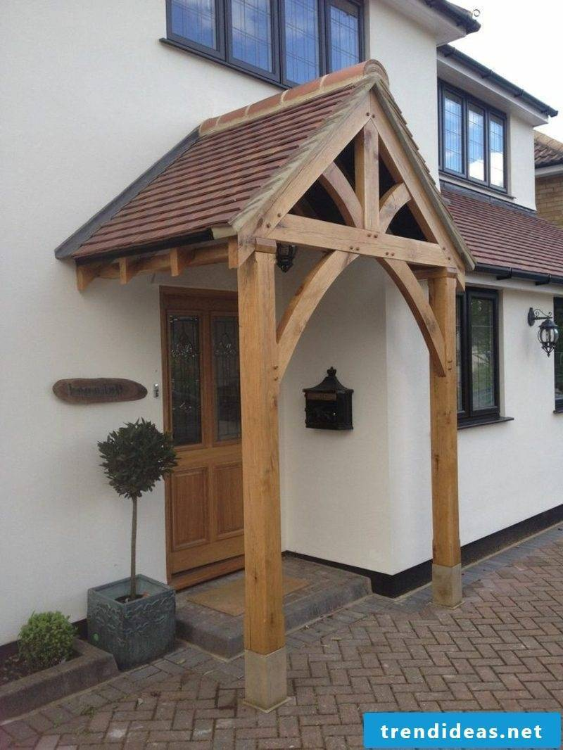 How Is A Front Door Canopy Built