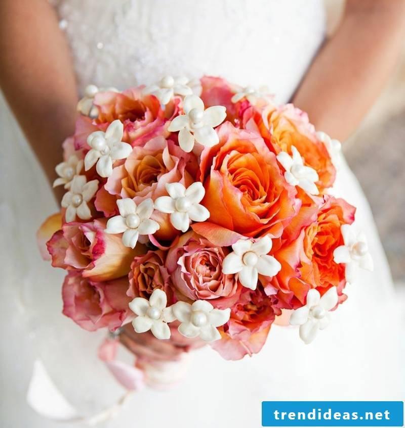 Wedding bouquet orange