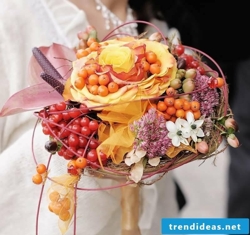 Bridal bouquet autumn original decoration