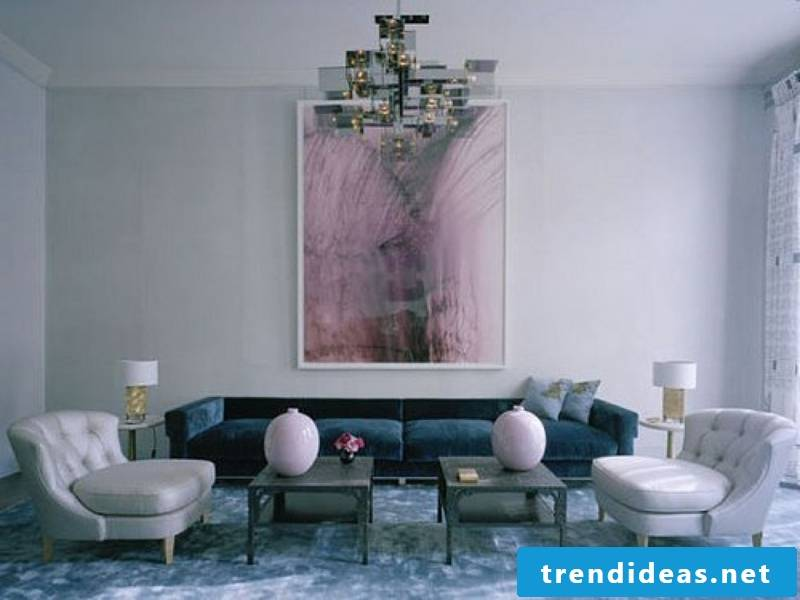 Picture accent with watercolor in the living room