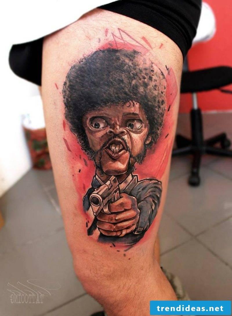 funny tattoos pulp fiction