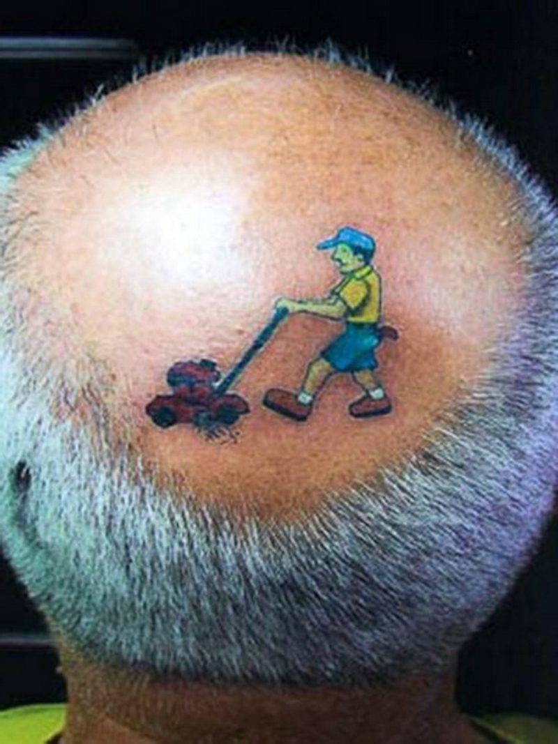 funny tattoos Grass