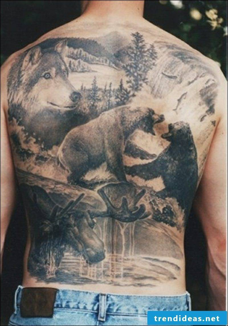 funny tattoos wildlife