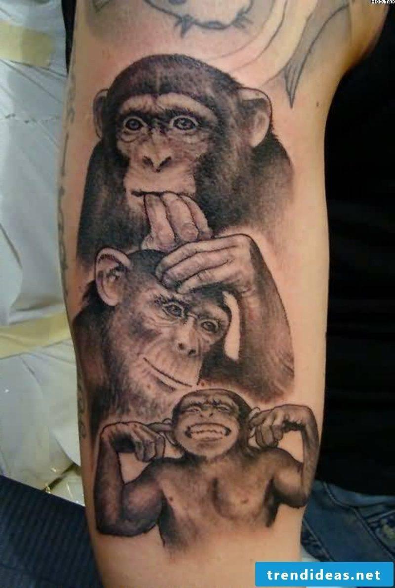 funny tattoos monkeys