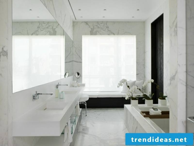 beautiful marble tiles in the bathroom