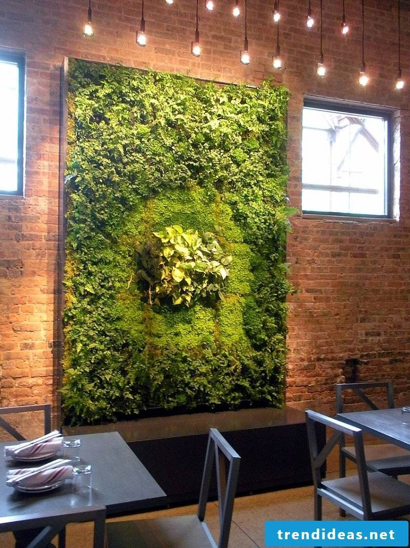 Emphasize your vertical garden with appropriate lighting