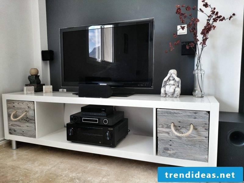 Ikea Besta shelf as a TV cabinet