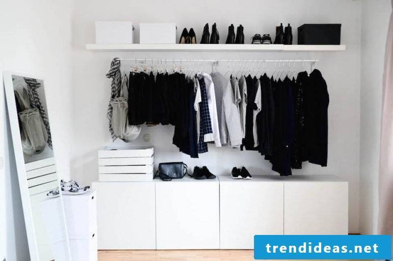 Ikea Besta transform shelf into wardrobe
