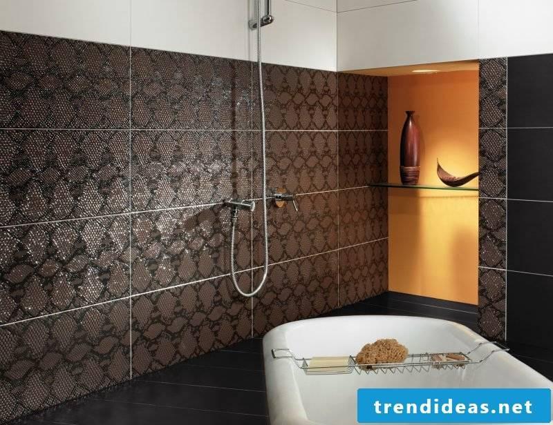 Italian tiles brown