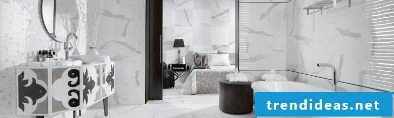 Italian tiles white black