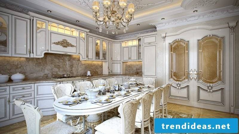 Baroque furniture dining room kitchen