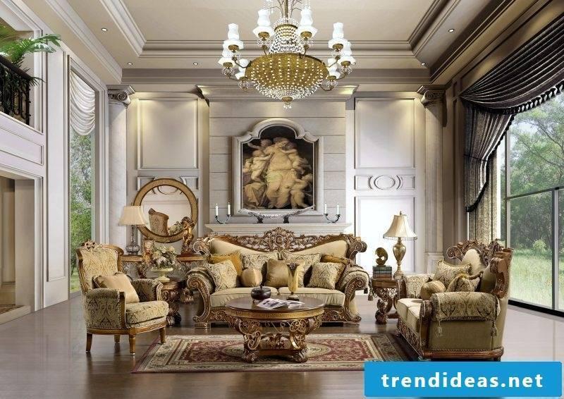 Baroque furniture living room design