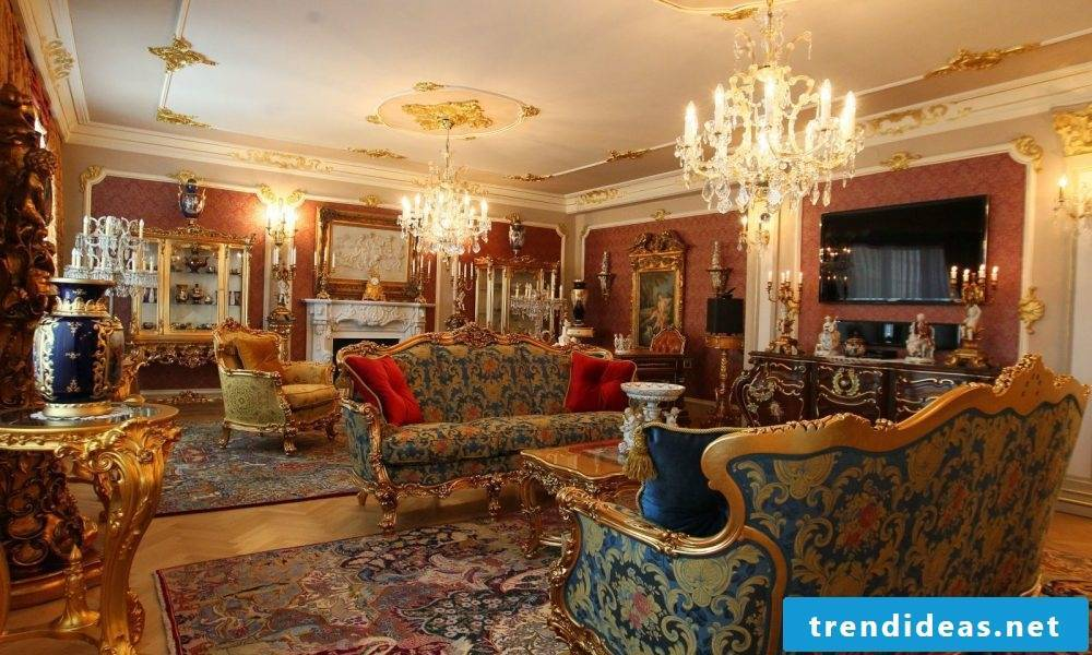 36 Living Room Decorating Ideas That Smells Like Spring: Inspiration From Versailles Castle: 36 Ideas For Baroque