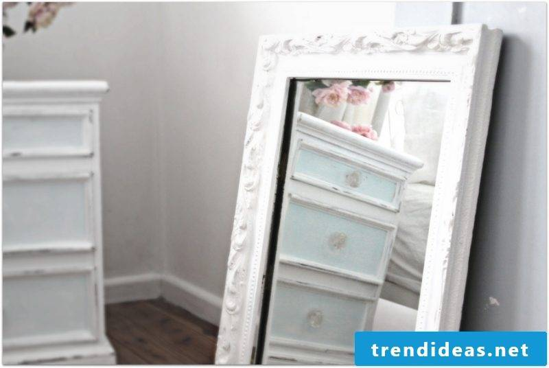 furniture country style mirror white bedroom furnishings
