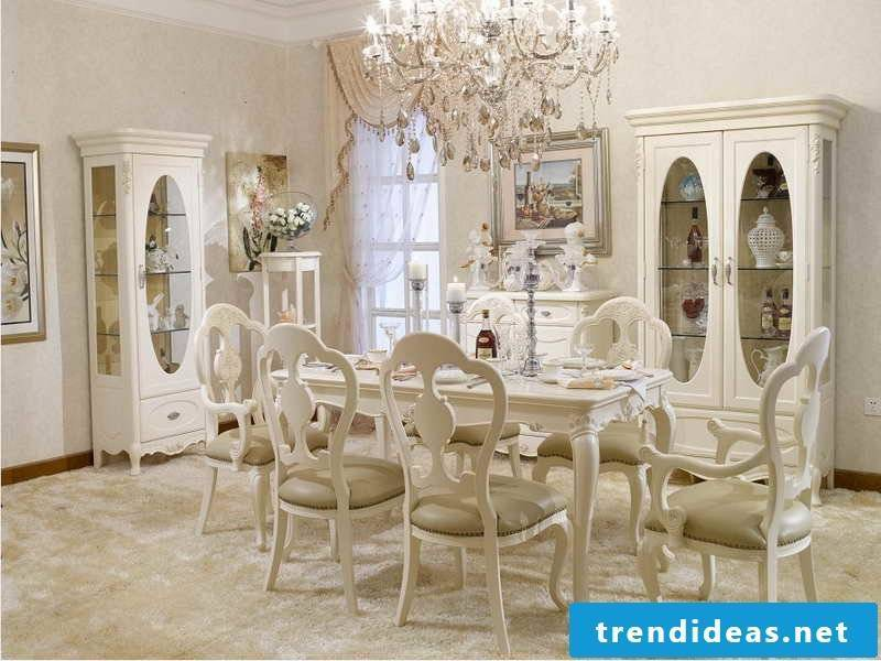 Country style furniture white french country house dining room dining room chair interior design