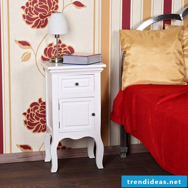 country style furniture modern white bedside bedroom decorating decoration