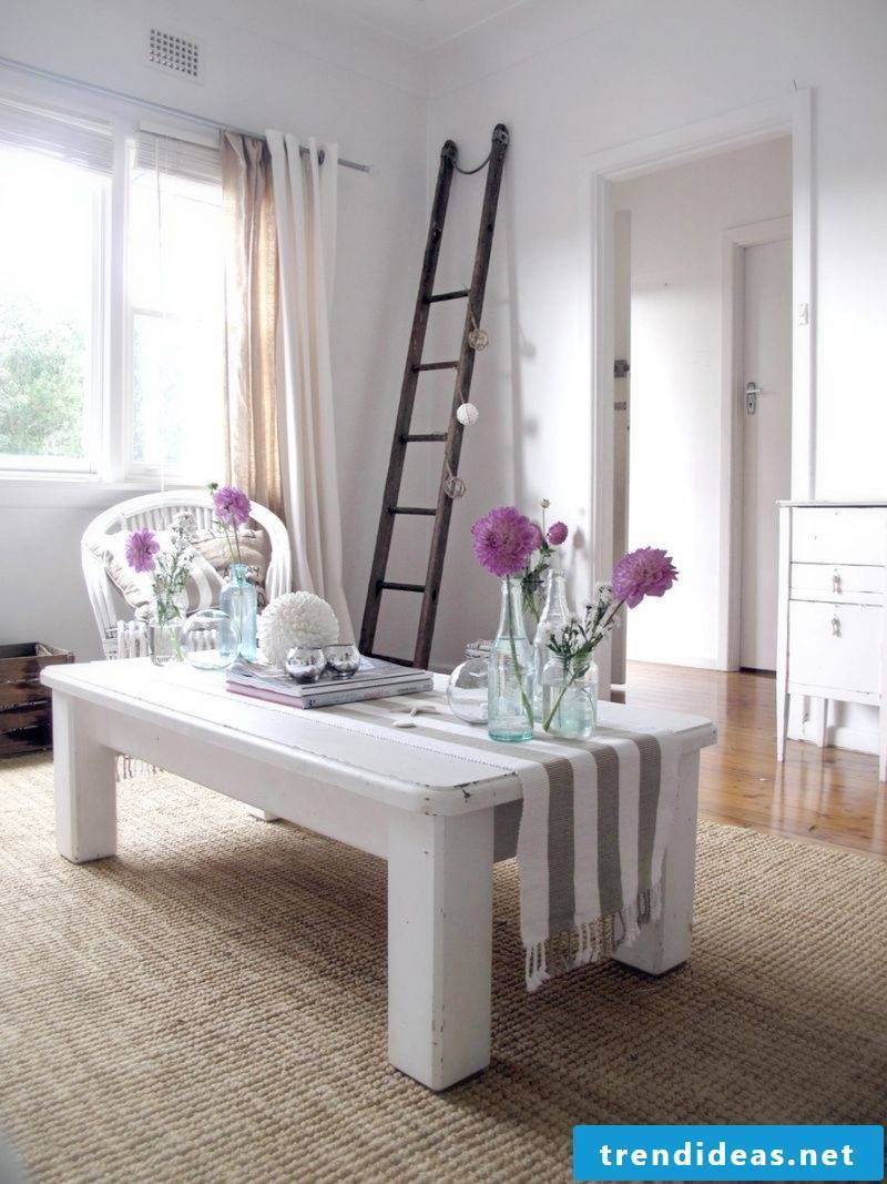 country house furniture white table wood modern decor design deco ideas