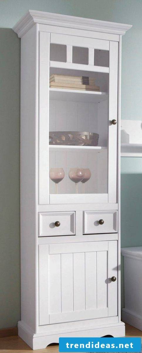 country house furniture cabinet white wood country style design set up