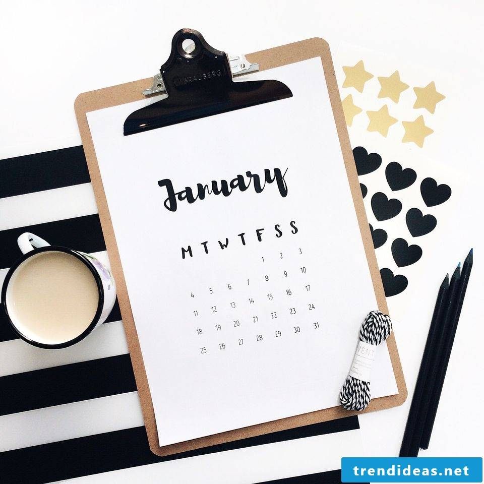 Great Ideas for a Calendar Designing Yourself