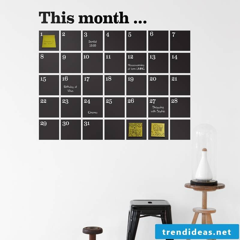 Exceptional ideas for a wall calendar 2017/2018