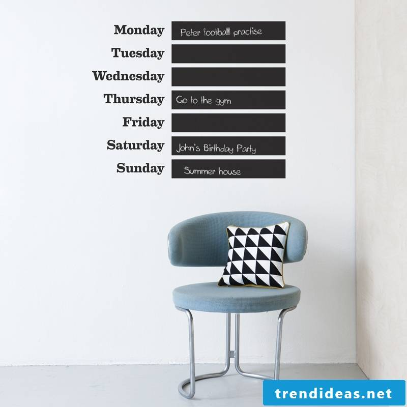 Ideas for a practical wall calendar 2017/2018