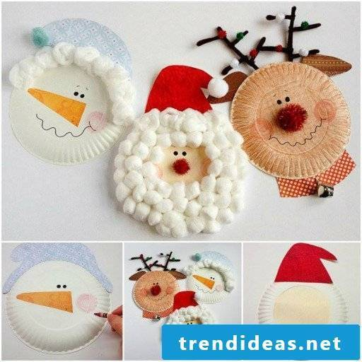 Crafting with 2-year-old children Christmas decoration
