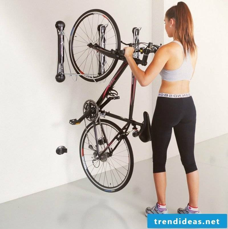 bike holder wall home bike