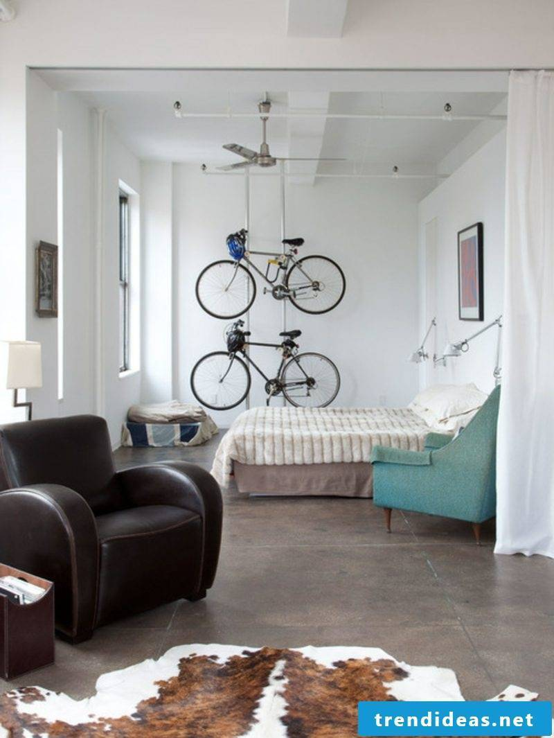bicycle holder wall industrial bedroom