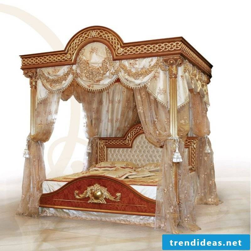 Four poster bed curtain inspired by India