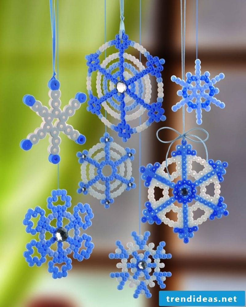 Beading templates Christmas make beautiful snowflakes yourself