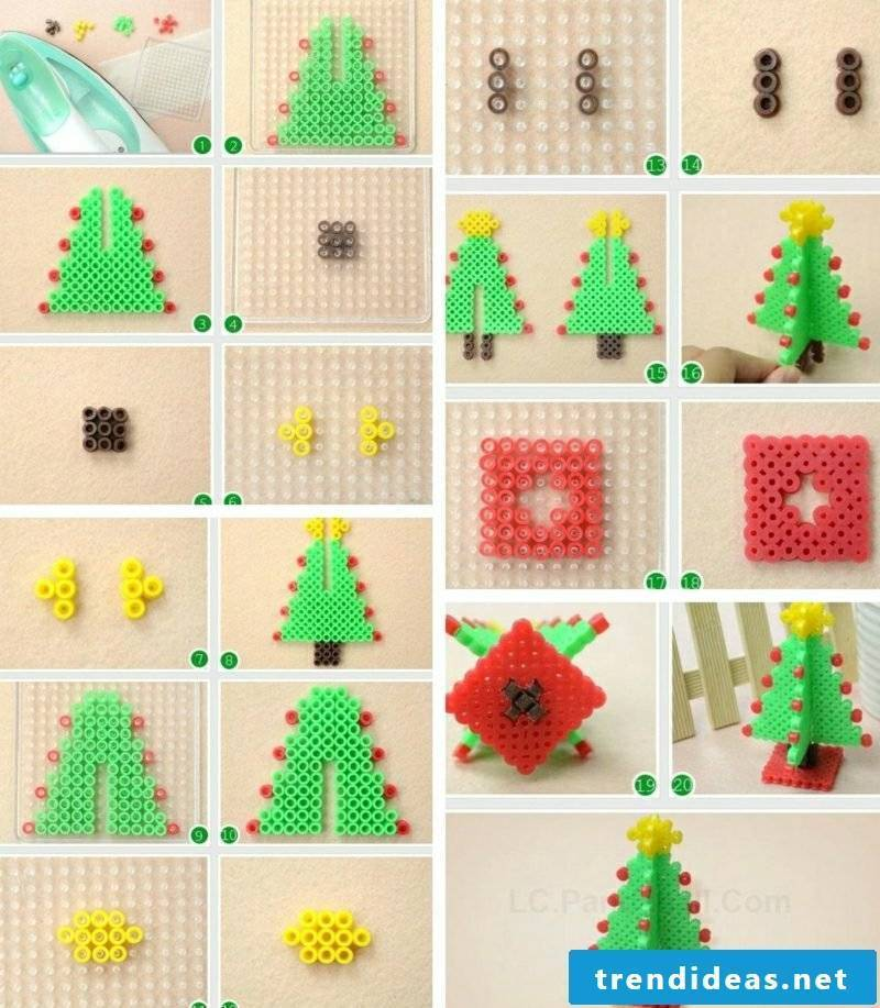 Beading templates Christmas 3d Christmas tree crafting instruction