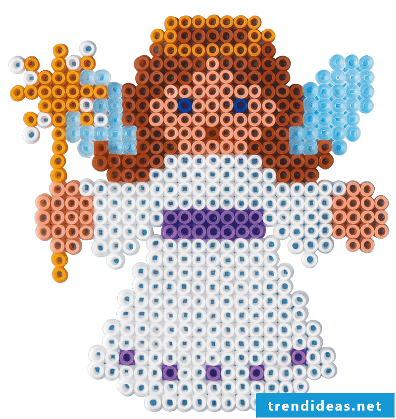 Iron-on beads templates Christmas angels