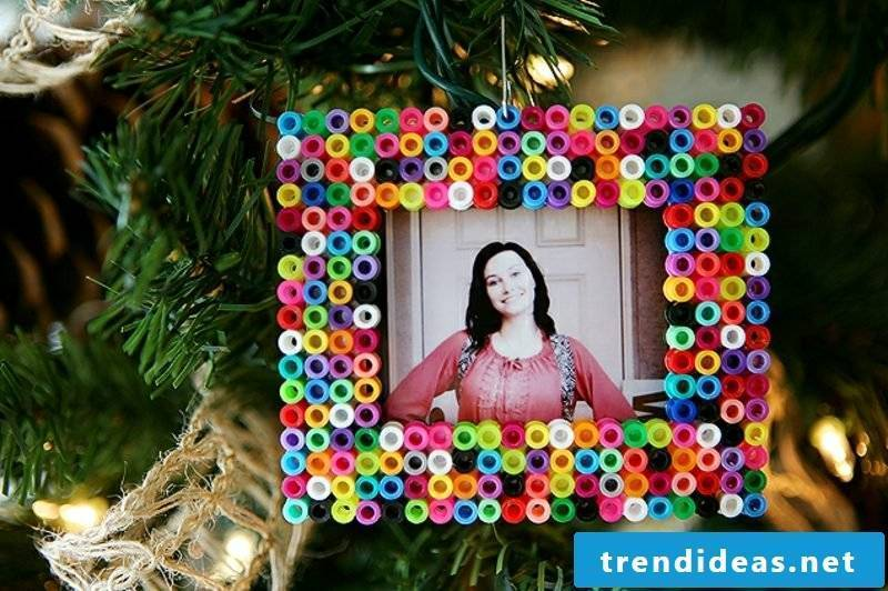 Beading templates Christmas decorating photo frame