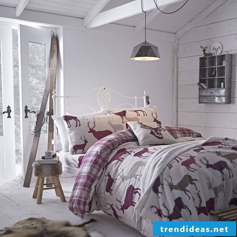 A trend for cool bed linen are the animal motifs