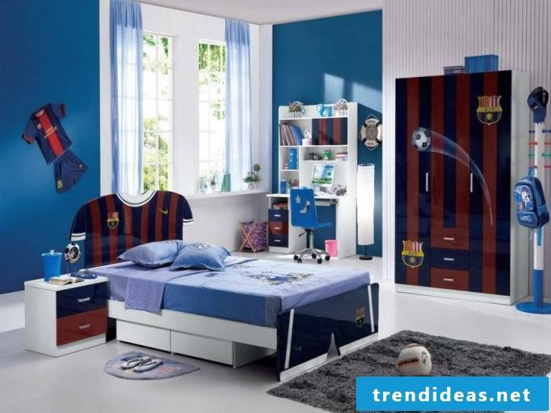 The cool linens for boys rooms are with football