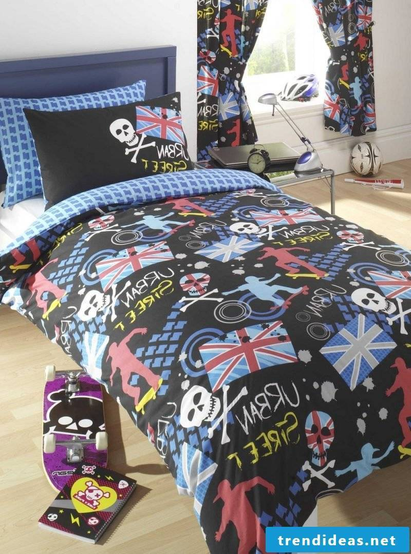 Cool bedding for teenagers can also be colorful