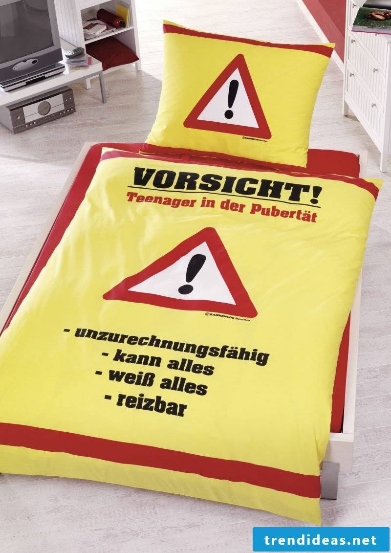 Cool bedding with funny sayings