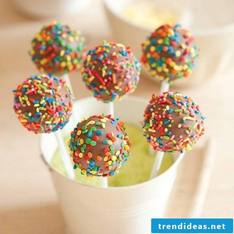 Children's birthday food sweets