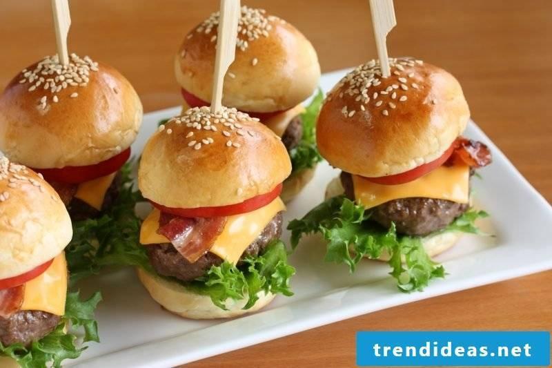 Food birthday party Kinderpafty mini-burger