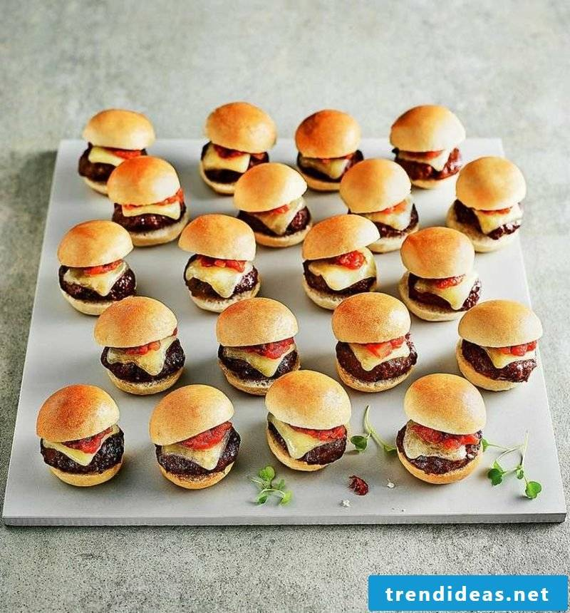 Birthday party food kids party mini burger