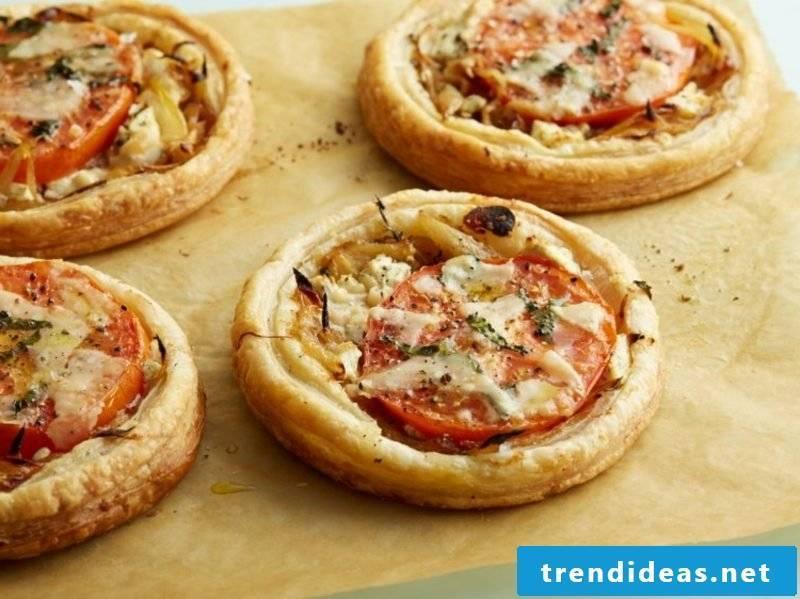Kids birthday baking mini pizzas