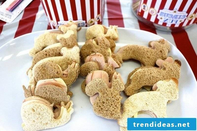Child Birthday Eating Finger Food Sandwiches
