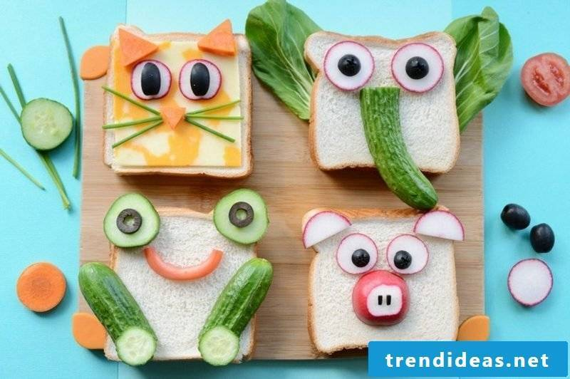 Kids party food sandwiches funny
