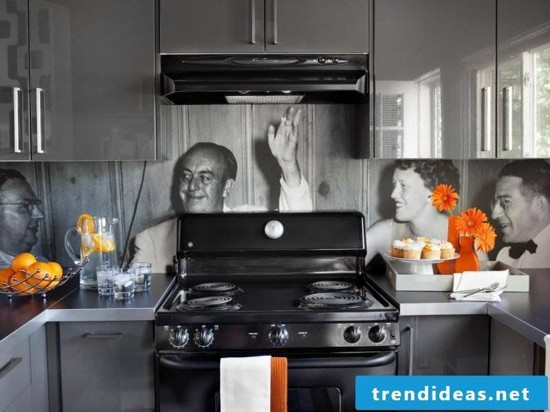 Cheap kitchen back wall with your own photo
