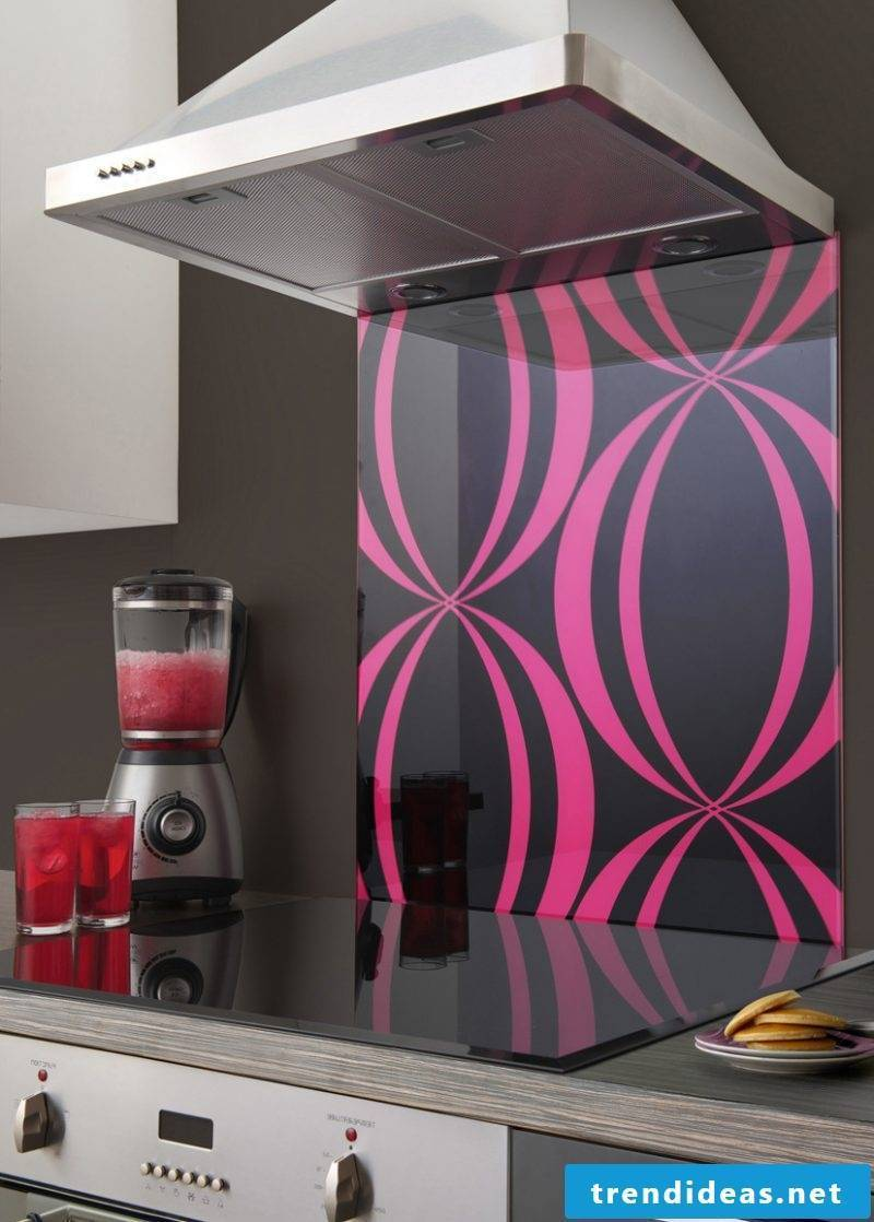 Kitchen back wall favorably designed with own design