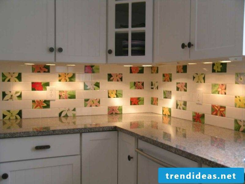 Kitchen back wall ideas white red subway