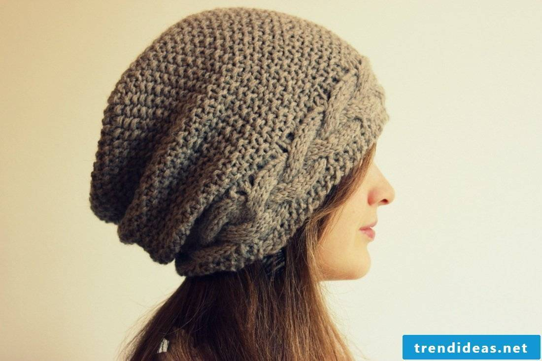 Knit cap - that certain something on the head