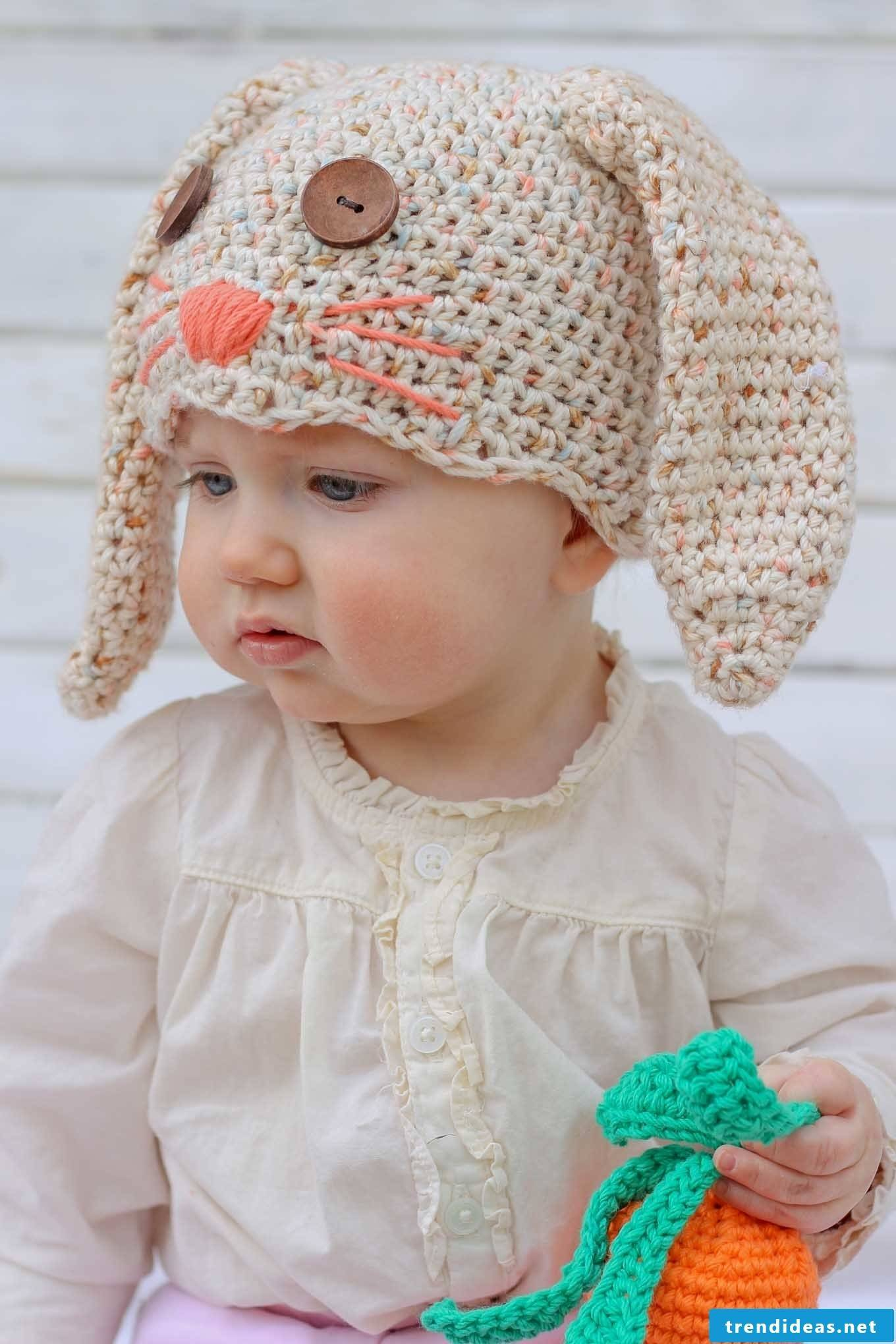 The no bunny crochet hat