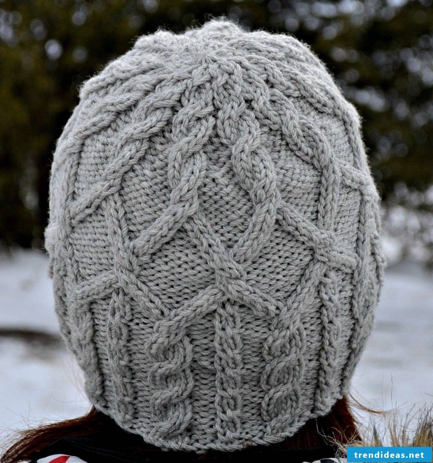 Great knit cap with interesting pattern